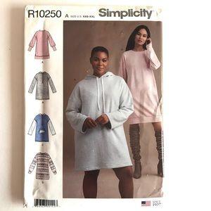 Simplicity Sewing Pattern Womens Fleece Hoodie